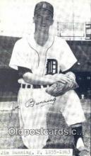 spo070064 - Jim Bunning Baseball Non Postcard Detroit Tigers Base Ball Postcard Post Card