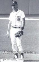 spo070066 - Tom Brookens Baseball Postcard Detroit Tigers Base Ball Postcard Post Card