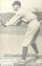 spo070076 - George Burns Baseball Postcard Detroit Tigers Base Ball Postcard Post Card