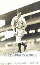 spo070080 - Al Benton Baseball Postcard Detroit Tigers Base Ball Postcard Post Card