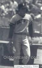 spo070081 - Howard Bailey Baseball Non Postcard Detroit Tigers Base Ball Postcard Post Card
