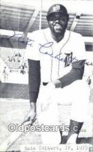 spo070095 - Nate Colbert Baseball Non Postcard Detroit Tigers Base Ball Postcard Post Card