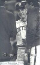 spo070102 - Billy Consolo Baseball Non Postcard Detroit Tigers Base Ball Postcard Post Card