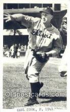 spo070105 - Earl Cook Baseball Postcard Detroit Tigers Base Ball Postcard Post Card