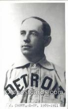 spo070111 - J. Casey Baseball Postcard Detroit Tigers Base Ball Postcard Post Card