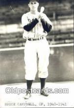 spo070112 - Bruce Campbell Baseball Postcard Detroit Tigers Base Ball Postcard Post Card