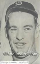 spo070113 - George Caster Baseball Postcard Detroit Tigers Base Ball Postcard Post Card