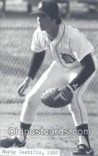 spo070121 - Marty Castillo Baseball Postcard Detroit Tigers Base Ball Postcard Post Card