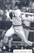spo070129 - Dave Collins Baseball Postcard Detroit Tigers Base Ball Postcard Post Card