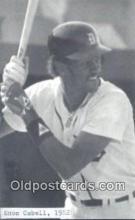 spo070131 - Enos Cabell Baseball Non Postcard Detroit Tigers Base Ball Postcard Post Card