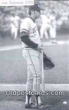 spo070134 - Joe Coleman Baseball Postcard Detroit Tigers Base Ball Postcard Post Card