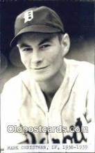 spo070135 - Mark Christman Baseball Postcard Detroit Tigers Base Ball Postcard Post Card