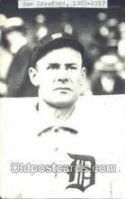 spo070147 - Sam Crawford Baseball Postcard Detroit Tigers Base Ball Postcard Post Card