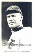 spo070149 - Sam Crawford Baseball Postcard Detroit Tigers Base Ball Postcard Post Card