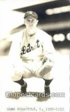 spo070165 - Gene Desautels Baseball Postcard Detroit Tigers Base Ball Postcard Post Card