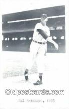 spo070178 - Hal Erickson Baseball Postcard Detroit Tigers Base Ball Postcard Post Card