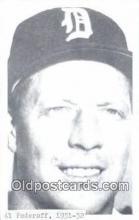 spo070192 - Al Federoff Baseball Postcard Detroit Tigers Base Ball Postcard Post Card