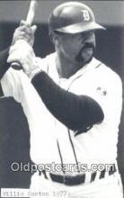 spo070284 - Willie Horton Baseball Non Postcard Detroit Tigers Base Ball Postcard Post Card
