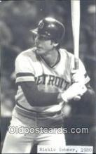 spo070285 - Richie Hebner Baseball Non Postcard Detroit Tigers Base Ball Postcard Post Card