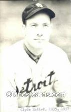spo070287 - Clyde Hatter Base Ball Postcard Detroit Tigers Baseball Postcard Post Card