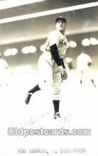 spo070290 - Bob Harris Base Ball Postcard Detroit Tigers Baseball Postcard Post Card