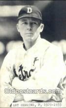 spo070293 - Art Herring Base Ball Postcard Detroit Tigers Baseball Postcard Post Card