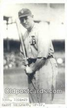 spo070294 - Harry Heilmann Base Ball Postcard Detroit Tigers Baseball Postcard Post Card