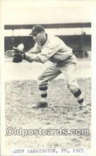 spo070298 - Andy Harrington Base Ball Postcard Detroit Tigers Baseball Postcard Post Card