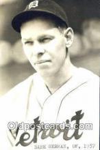 spo070303 - Babe Herman Base Ball Postcard Detroit Tigers Baseball Postcard Post Card