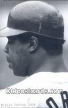 spo070306 - Willie Horton Base Ball Postcard Detroit Tigers Baseball Postcard Post Card