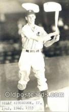 spo070312 - Billy Hitchcock Base Ball Postcard Detroit Tigers Baseball Postcard Post Card