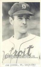 spo070315 - Jope Hoover Base Ball Postcard Detroit Tigers Baseball Postcard Post Card