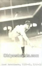 spo070321 - Fred Hutchinson Base Ball Postcard Backing Detroit Tigers Baseball Postcard Post Card