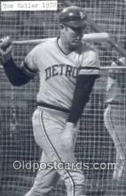 spo070324 - Tom Laller Base Ball Postcard Detroit Tigers Baseball Postcard Post Card