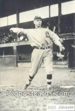 spo070329 - Bill Johnson Base Ball Postcard Detroit Tigers Baseball Postcard Post Card