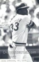 spo070337 - Alex Johnson Base Ball Postcard Detroit Tigers Baseball Postcard Post Card
