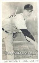 spo070346 - Lou Kretlow Base Ball Postcard Detroit Tigers Baseball Postcard Post Card