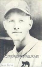 spo070358 - Russ Kerns Base Ball Postcard Detroit Tigers Baseball Postcard Post Card