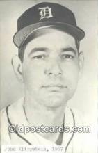 spo070375 - John Klippstein Base Ball Postcard Detroit Tigers Baseball Postcard Post Card
