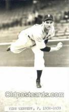 spo070381 - Vern Kennedy Base Ball Postcard Detroit Tigers Baseball Postcard Post Card