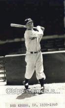 spo070382 - Red Kress Base Ball Postcard Detroit Tigers Baseball Postcard Post Card