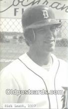 spo070383 - Rick Leach Base Ball Non Postcard Detroit Tigers Baseball Postcard Post Card