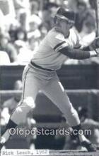 spo070385 - Rick Leach Base Ball Postcard Detroit Tigers Baseball Postcard Post Card