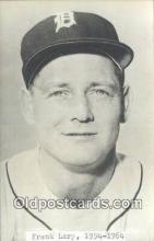 spo070386 - Frank Lary Base Ball Postcard Detroit Tigers Baseball Postcard Post Card