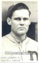 spo070392 - Dutch Leonard Base Ball Postcard Detroit Tigers Baseball Postcard Post Card