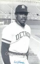 spo070407 - Ron LeFlore Base Ball Postcard Detroit Tigers Baseball Postcard Post Card
