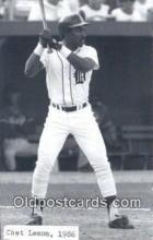 spo070410 - Chet Lemon Base Ball Postcard Detroit Tigers Baseball Postcard Post Card