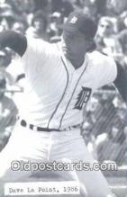 spo070412 - Dave La Point Base Ball Postcard Detroit Tigers Baseball Postcard Post Card