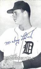 spo070416 - Mickey Lolich Base Ball Photograph Non Postcard Detroit Tigers Baseball Postcard Post Card