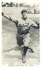 spo070423 - Steve Larkin Base Ball Postcard Detroit Tigers Baseball Postcard Post Card